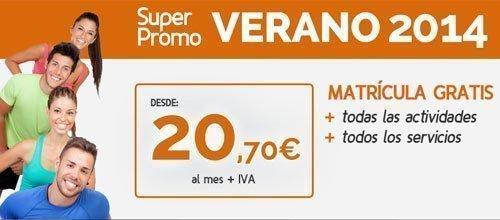 Promoción Verano 2014: 20,75€/mes – Matrícula gratis